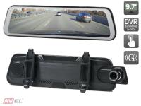 """Потоковое зеркало заднего вида AVS0587DVR с монитором 9.7"""" и двухканальным видеорегистратором"""