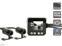 Двухканальный видеорегистратор для мотоцикла / квадроцикла / снегохода (HD 720P) AVS0710DVR
