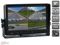 """Парковочный монитор с квадратором 9"""" для грузовиков и автобусов AVS0904BM (AHD)"""