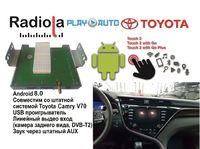 Навигационный блок на системе Android 8.0 Radiola NAV-RDL01 NEW для Toyota Camry V70