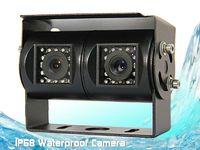 Специальная двойная камера для грузового транспорта с сенсором CCD и защитным козырьком Pleervox PLV-CAM-TR02